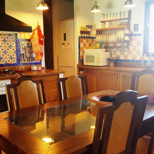 Salón comedor Casa rural Sierra de Aguafría