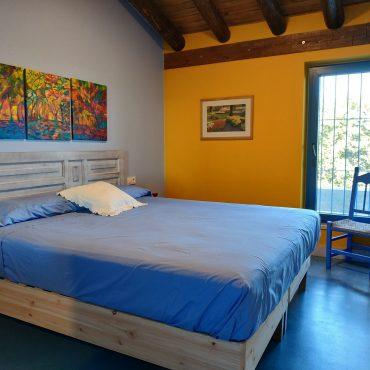 Dormitorio matrimonio Casa rural Madre del Agua